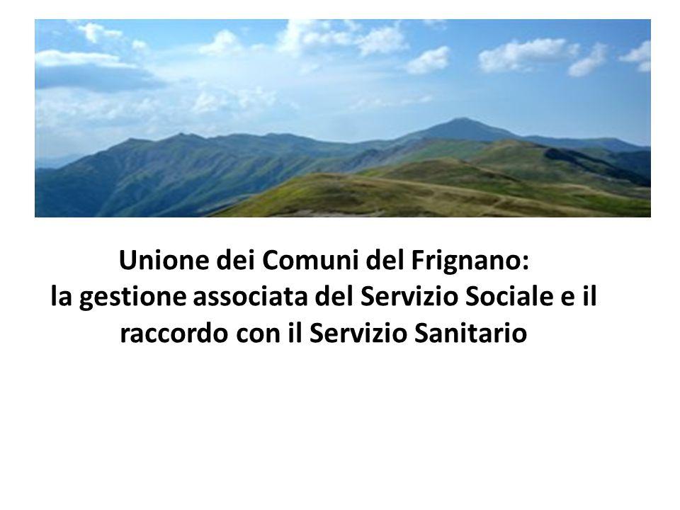 Unione dei Comuni del Frignano: la gestione associata del Servizio Sociale e il raccordo con il Servizio Sanitario