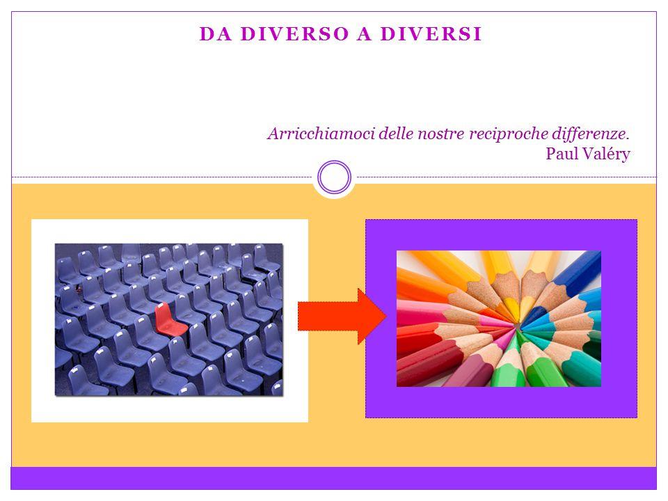 DA DIVERSO A DIVERSI Arricchiamoci delle nostre reciproche differenze. Paul Valéry