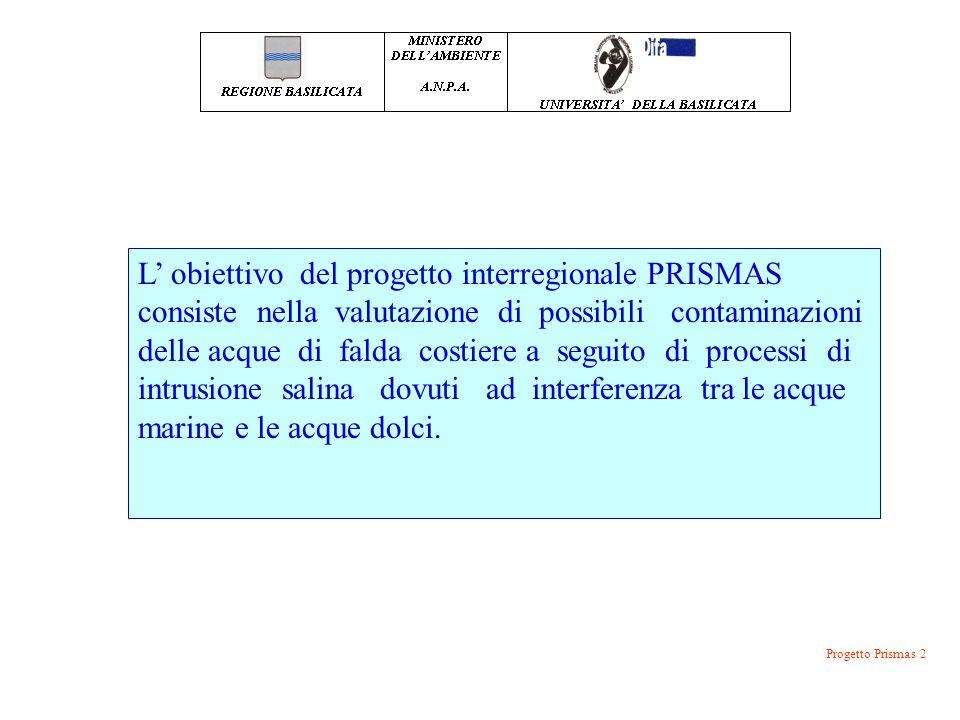 L' obiettivo del progetto interregionale PRISMAS consiste nella valutazione di possibili contaminazioni delle acque di falda costiere a seguito di pro