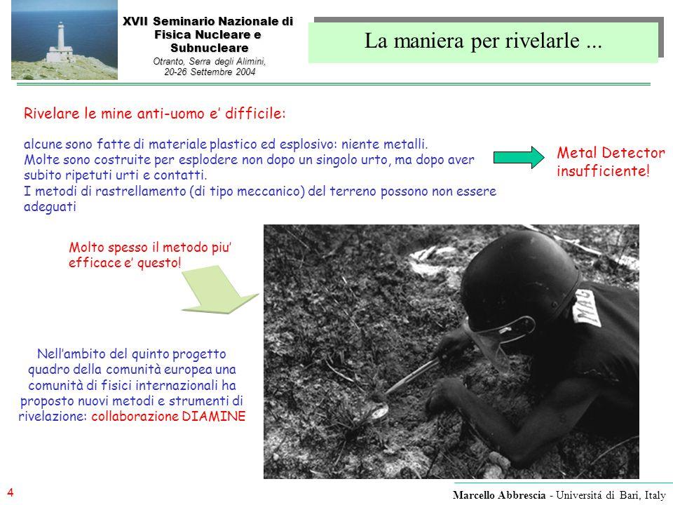 25 Marcello Abbrescia - Universitá di Bari, Italy XVII Seminario Nazionale di Fisica Nucleare e Subnucleare Otranto, Serra degli Alimini, 20-26 Settembre 2004 … I risultati