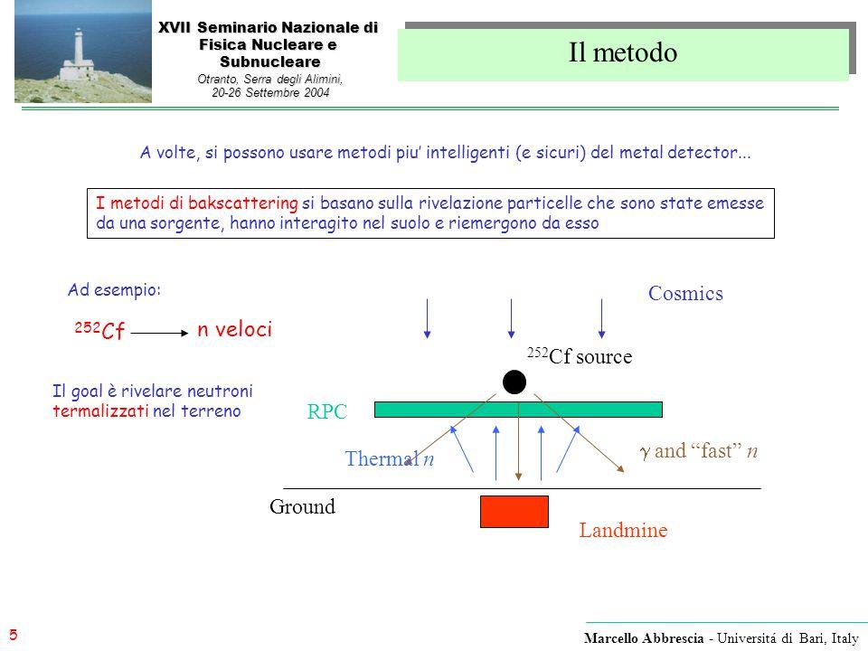 5 Marcello Abbrescia - Universitá di Bari, Italy XVII Seminario Nazionale di Fisica Nucleare e Subnucleare Otranto, Serra degli Alimini, 20-26 Settemb