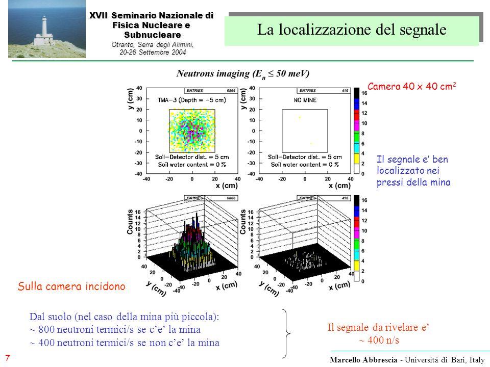 7 Marcello Abbrescia - Universitá di Bari, Italy XVII Seminario Nazionale di Fisica Nucleare e Subnucleare Otranto, Serra degli Alimini, 20-26 Settemb