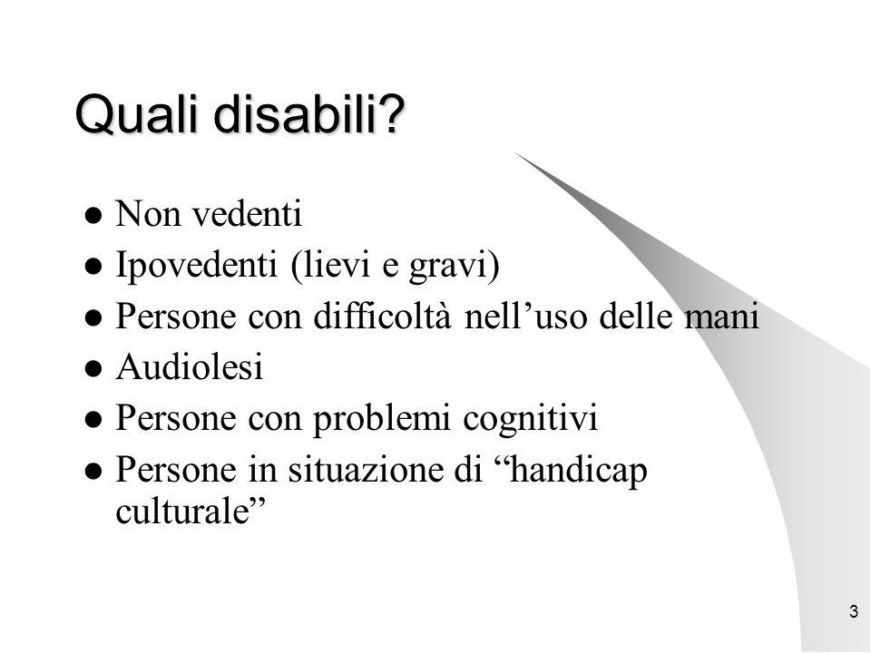 3 Quali disabili.