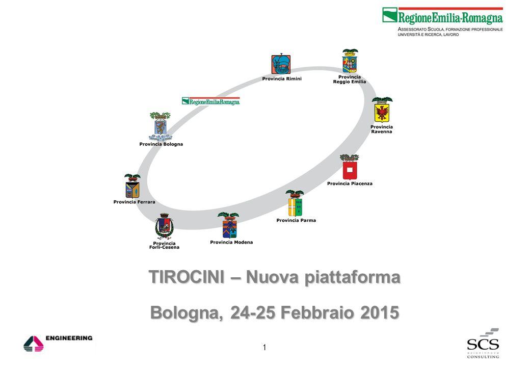 TIROCINI – Nuova piattaforma Bologna, 24-25 Febbraio 2015 1