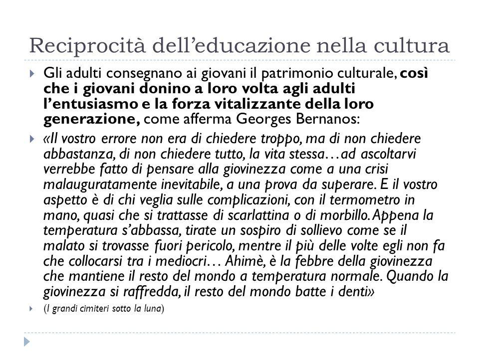 Cinque missioni per il risveglio culturale La scuola è l'istituzione decisiva per il risveglio culturale della nostra società.