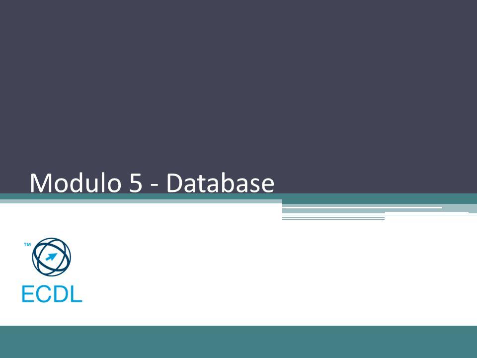 Modulo 5 - Database