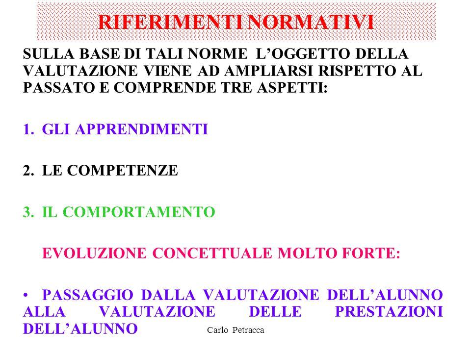 RIFERIMENTI NORMATIVI LEGGE N.169 DEL 30.10.08 – Art 3, c.