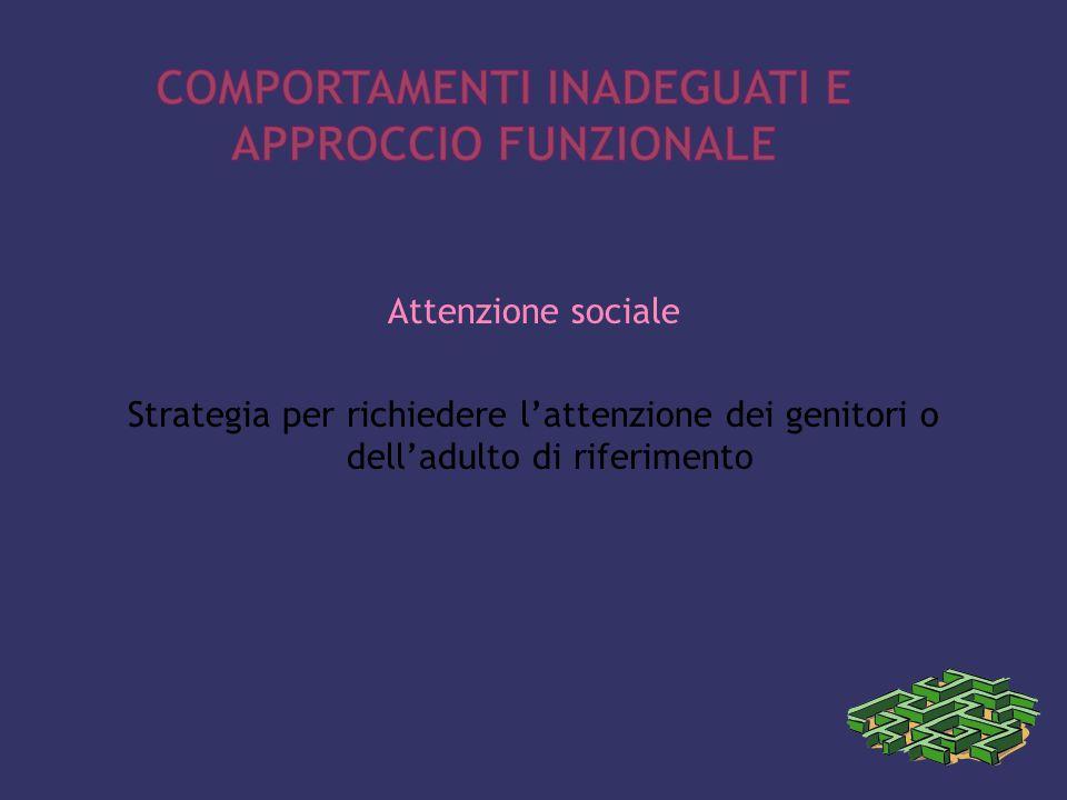 Attenzione sociale Strategia per richiedere l'attenzione dei genitori o dell'adulto di riferimento