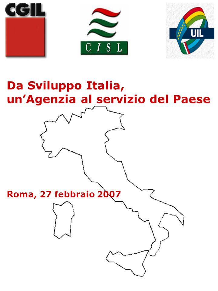 Da Sviluppo Italia, un'Agenzia al servizio del Paese Roma, 27 febbraio 2007