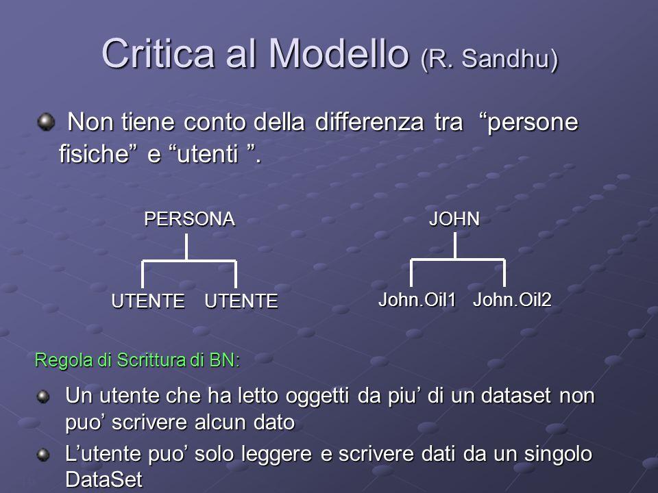 16 Critica al Modello (R.