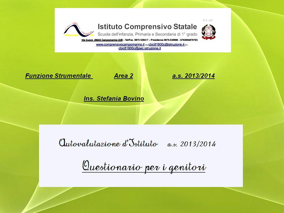 Funzione Strumentale Area 2 a.s. 2013/2014 Ins. Stefania Bovino