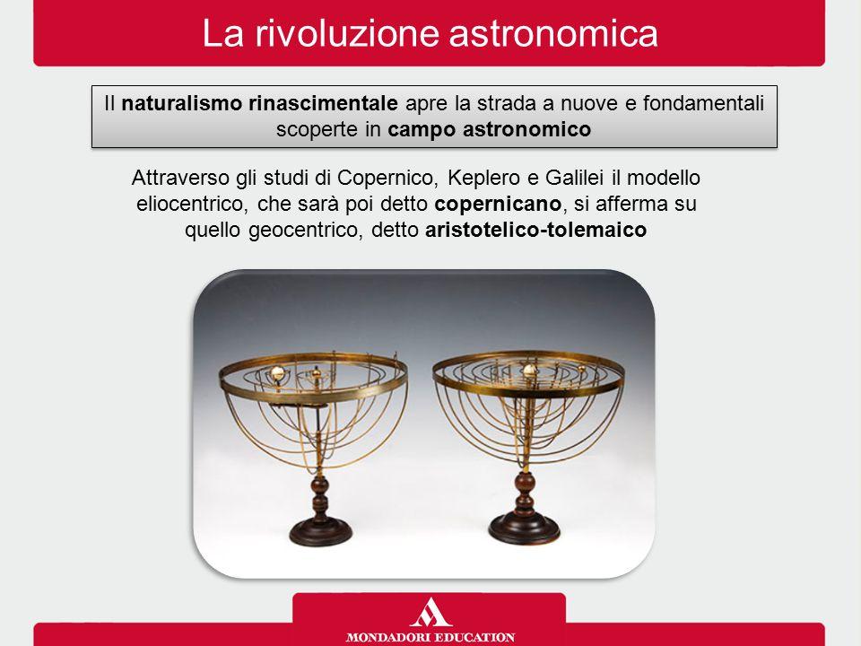 La rivoluzione astronomica Il naturalismo rinascimentale apre la strada a nuove e fondamentali scoperte in campo astronomico Attraverso gli studi di C