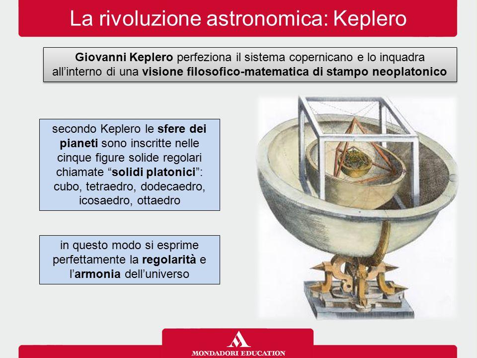 La rivoluzione astronomica: Keplero Giovanni Keplero perfeziona il sistema copernicano e lo inquadra all'interno di una visione filosofico-matematica