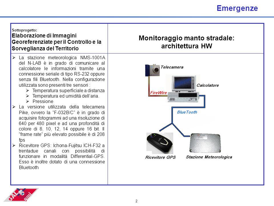 2 Emergenze  La stazione meteorologica NMS-1001A del N-LAB è in grado di comunicare al calcolatore le informazioni tramite una connessione seriale di tipo RS-232 oppure senza fili Bluetooth.