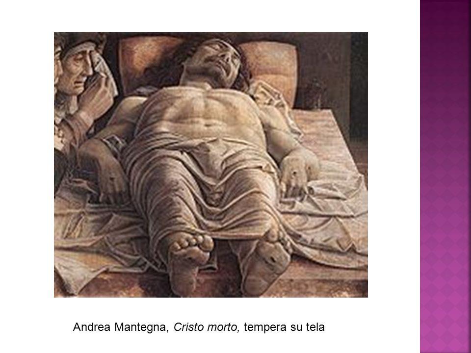 Andrea Mantegna, Cristo morto, tempera su tela