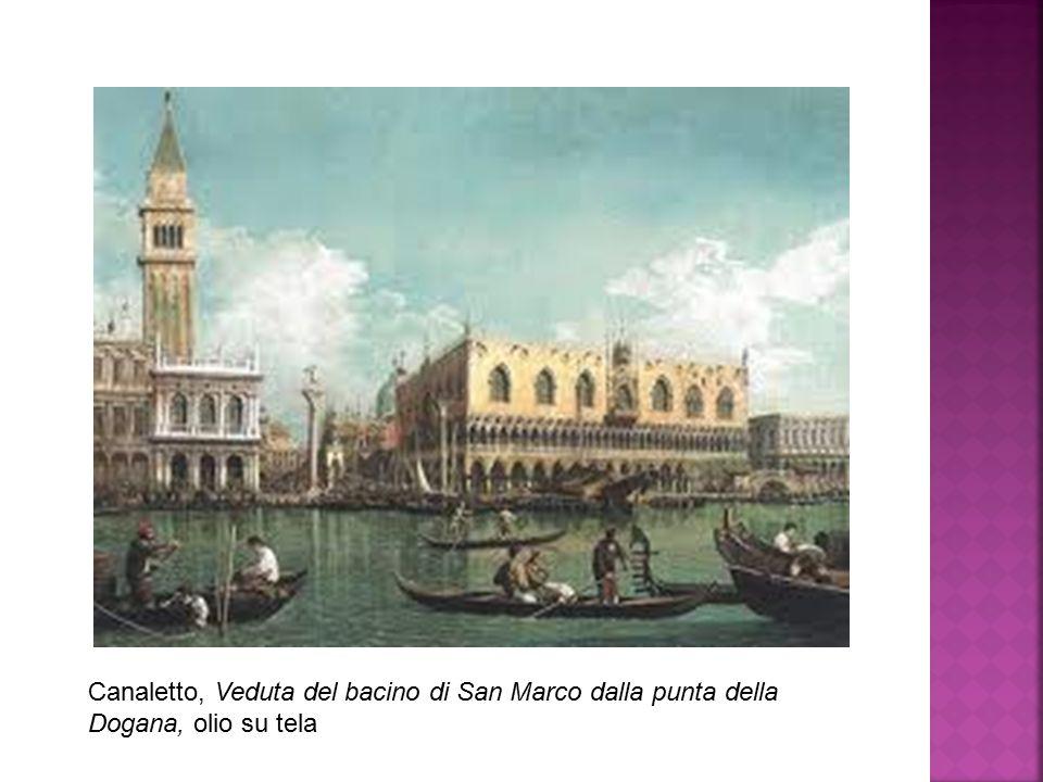 Canaletto, Veduta del bacino di San Marco dalla punta della Dogana, olio su tela