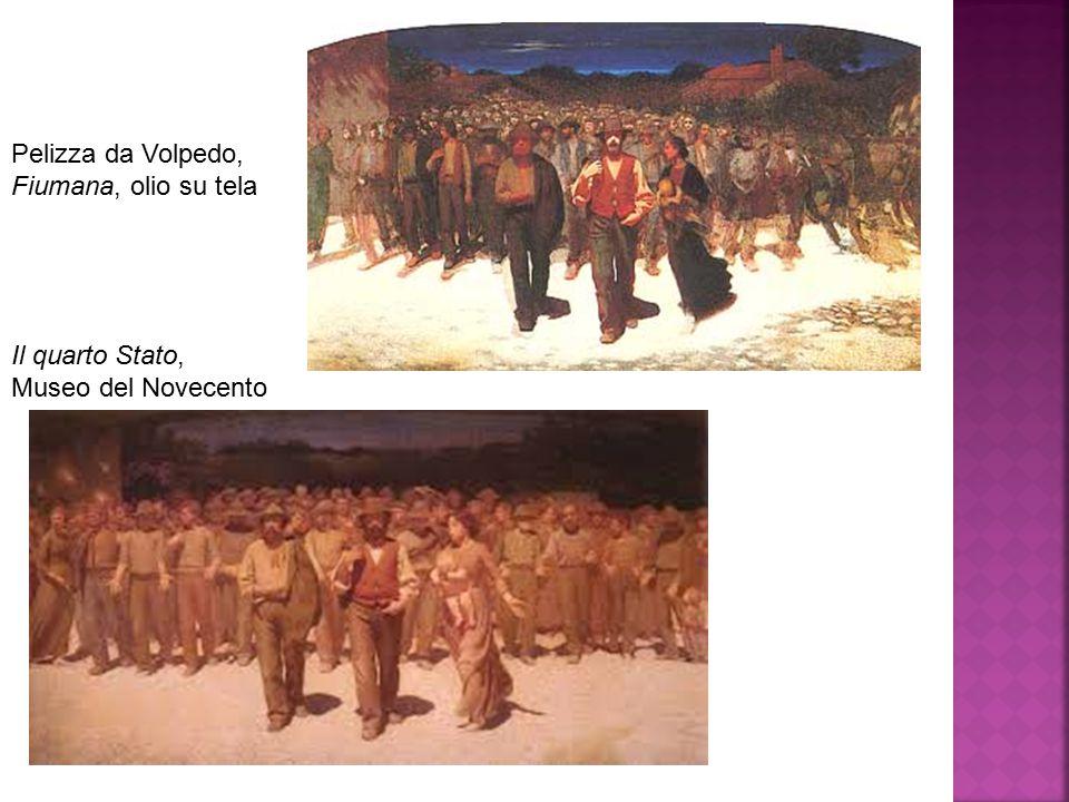 Pelizza da Volpedo, Fiumana, olio su tela Il quarto Stato, Museo del Novecento