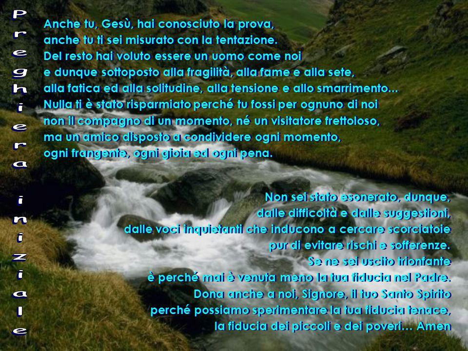 Gen 2,7-9;3,1-7 7 Il Signore Dio plasmò l'uomo con polvere del suolo e soffiò nelle sue narici un alito di vita e l'uomo divenne un essere vivente.