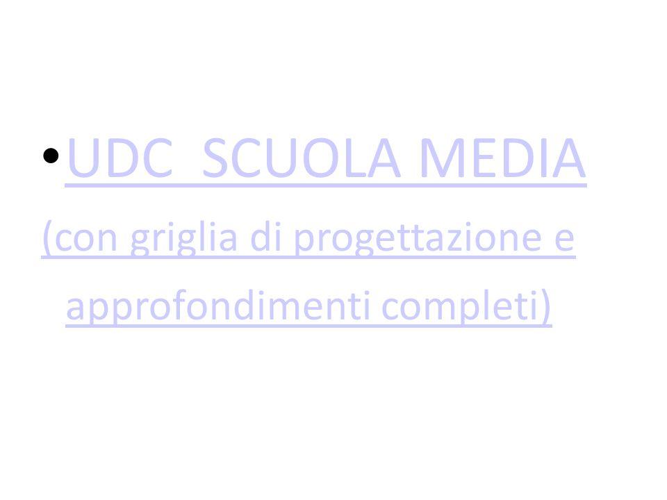 UDC SCUOLA MEDIA (con griglia di progettazione e approfondimenti completi)