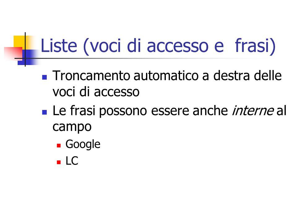 Operatore AND Di solito un default I campi ripetibili Esempio di ricerca per autore su Indice Polo Romagna LC BNCF