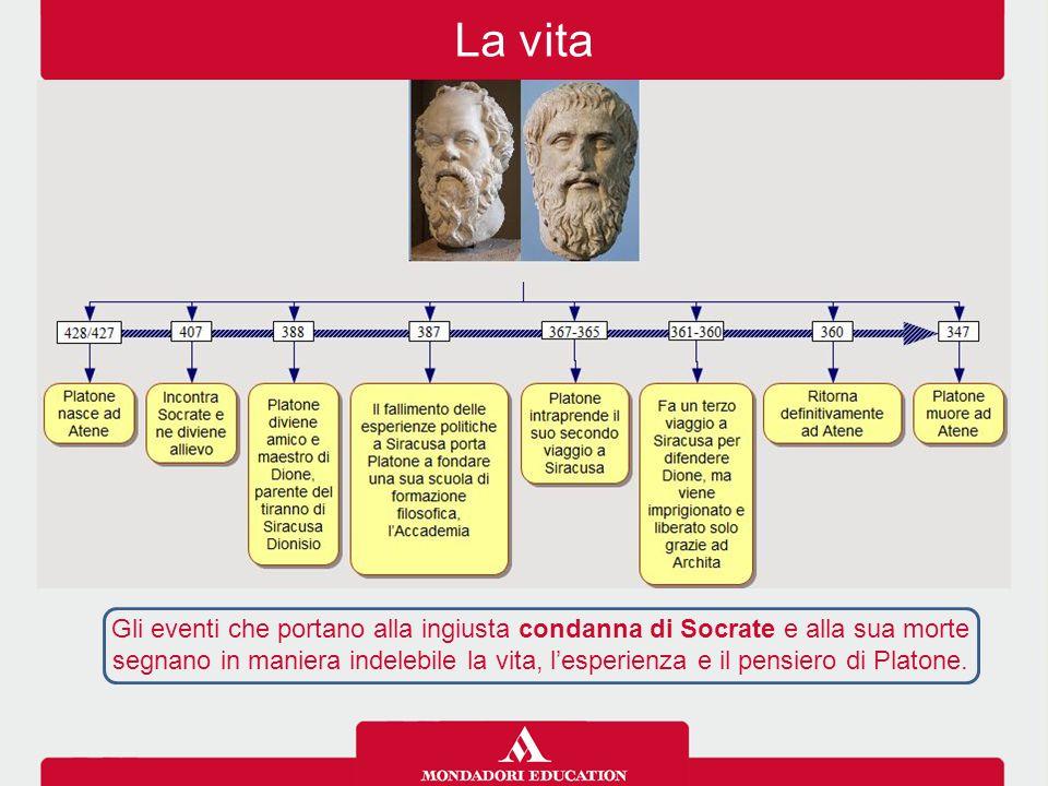 Gli eventi che portano alla ingiusta condanna di Socrate e alla sua morte segnano in maniera indelebile la vita, l'esperienza e il pensiero di Platone