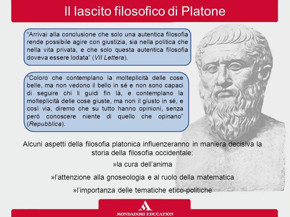 """Il lascito filosofico di Platone """"Arrivai alla conclusione che solo una autentica filosofia rende possibile agire con giustizia, sia nella politica ch"""