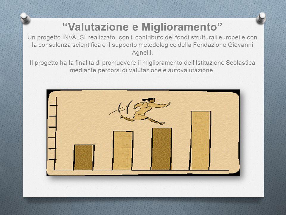 Valutazione e Miglioramento Un progetto INVALSI realizzato con il contributo dei fondi strutturali europei e con la consulenza scientifica e il supporto metodologico della Fondazione Giovanni Agnelli.