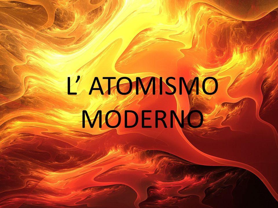 L' ATOMISMO MODERNO