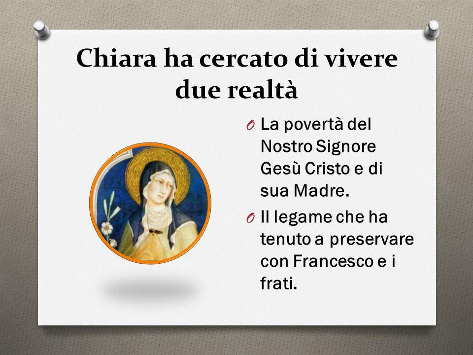 O Questa povertà è il fil rouge di tutta la vita di Francesco e Chiara, è il carisma che è stato loro affidato.