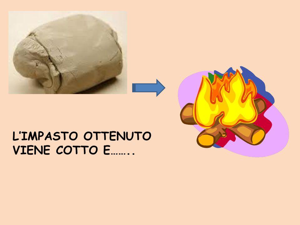 L'IMPASTO OTTENUTO VIENE COTTO E……..
