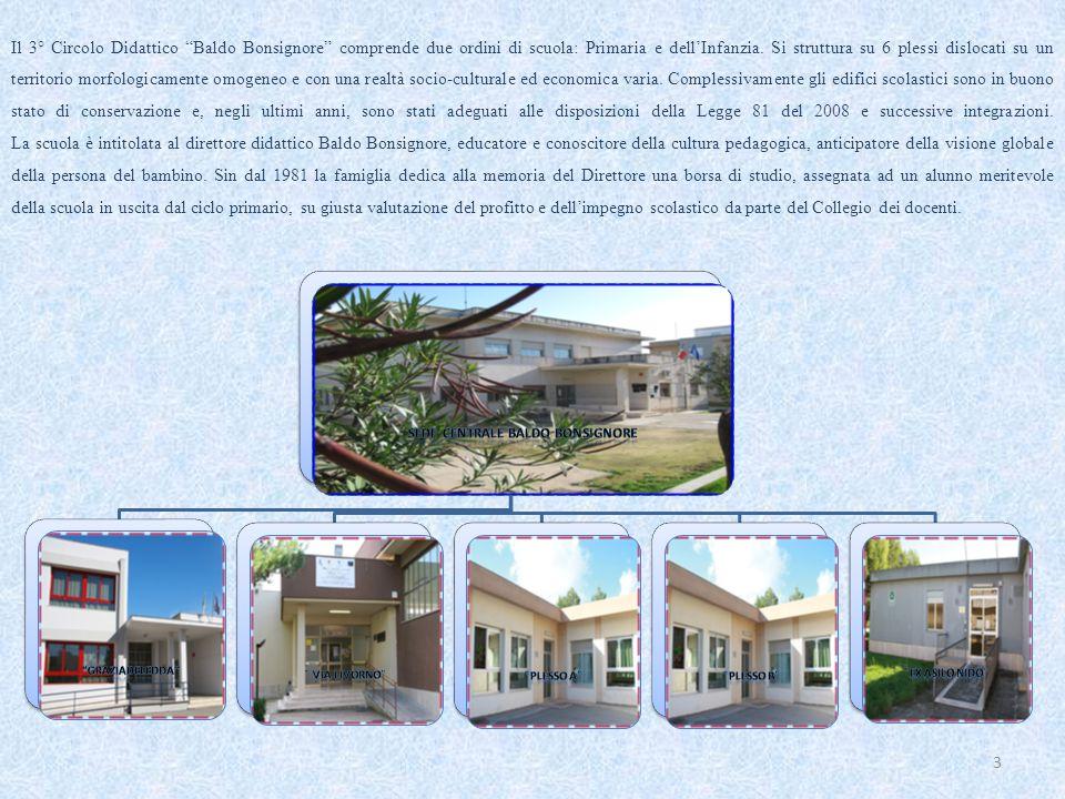 Il 3° Circolo Didattico Baldo Bonsignore comprende due ordini di scuola: Primaria e dell'Infanzia.