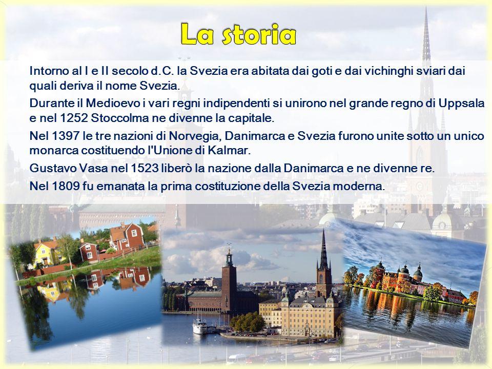 Intorno al I e II secolo d.C. la Svezia era abitata dai goti e dai vichinghi sviari dai quali deriva il nome Svezia. Durante il Medioevo i vari regni