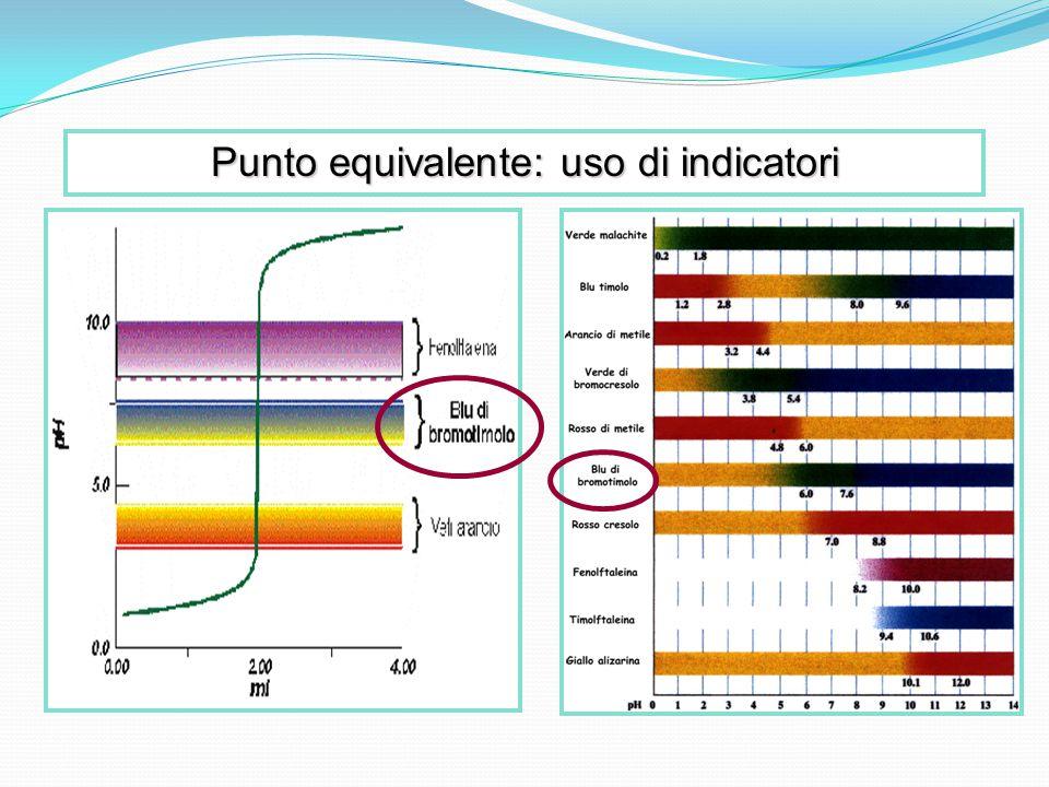 Punto equivalente: uso di indicatori