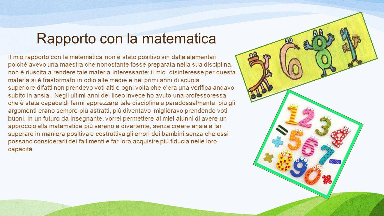 Didattica della matematica Grazie a questo corso ho iniziato ad acquisire uno sguardo diverso per quanto riguarda il metodo di insegnamento, infatti ho apprezzato in particolare l'approccio innovativo della matematica attraverso i giochi comuni di vario genere come il «tangram», gli scacchi..