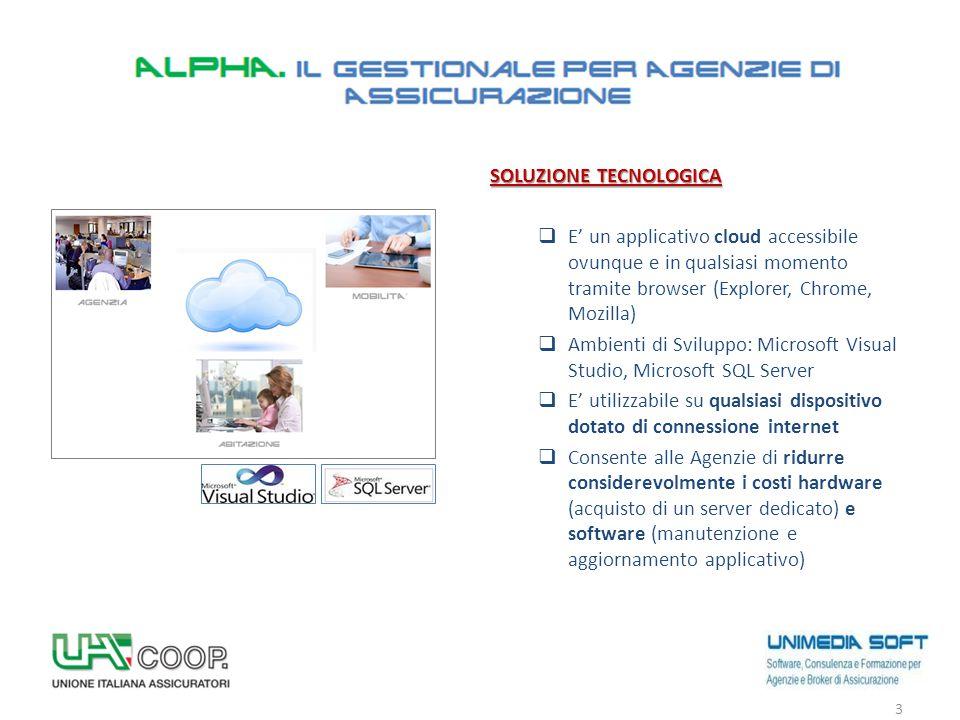 SOLUZIONE TECNOLOGICA  E' un applicativo cloud accessibile ovunque e in qualsiasi momento tramite browser (Explorer, Chrome, Mozilla)  Ambienti di S