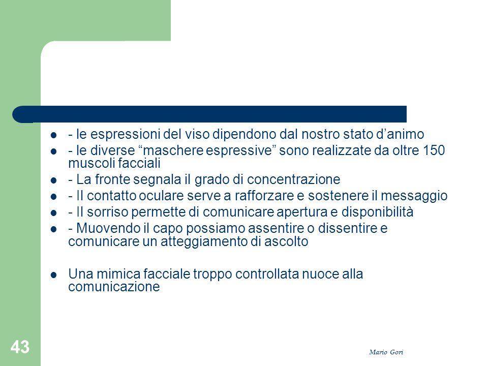 """Mario Gori 43 - le espressioni del viso dipendono dal nostro stato d'animo - le diverse """"maschere espressive"""" sono realizzate da oltre 150 muscoli fac"""
