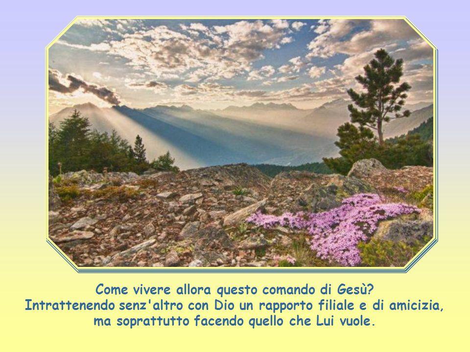 """""""Amerai il Signore Dio tuo con tutto il cuore, con tutta la tua anima e con tutta la tua mente""""."""