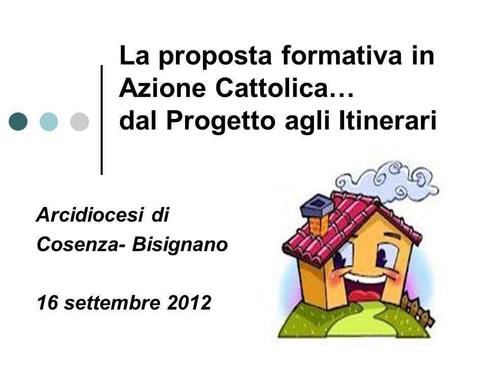La proposta formativa in Azione Cattolica… dal Progetto agli Itinerari Arcidiocesi di Cosenza- Bisignano 16 settembre 2012