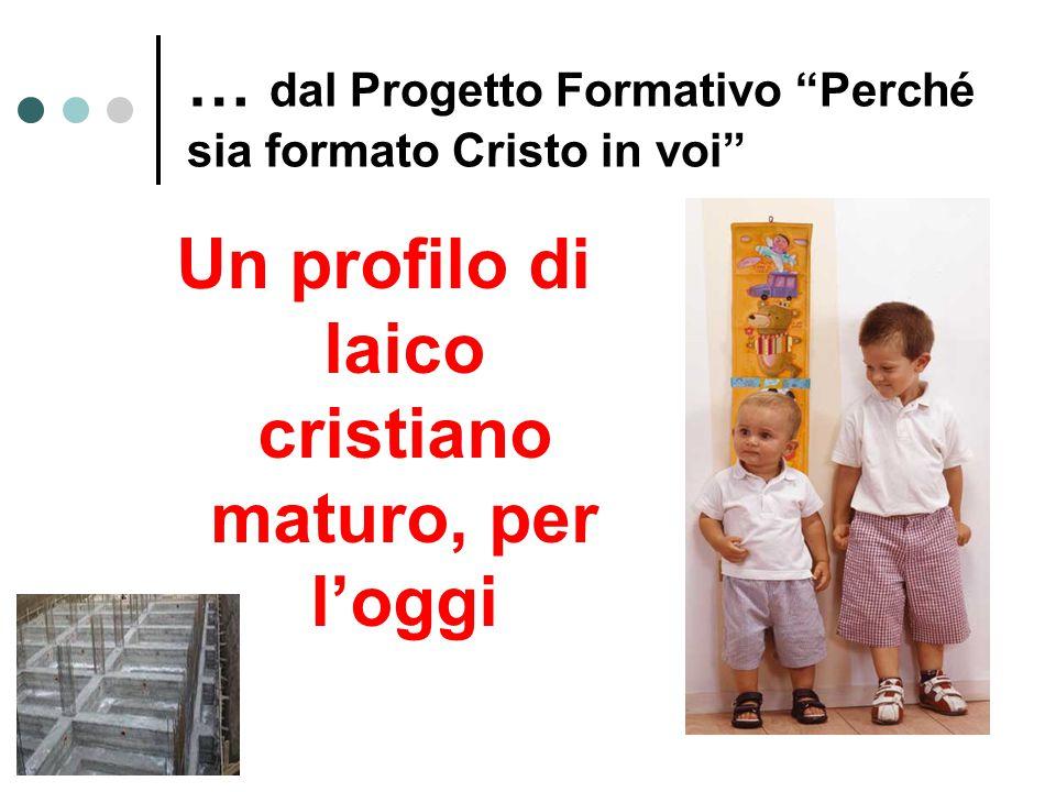 … dal Progetto Formativo Perché sia formato Cristo in voi Un profilo di laico cristiano maturo, per l'oggi