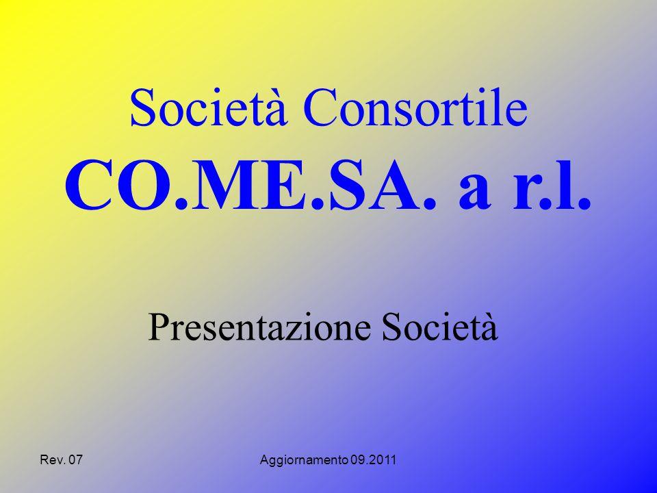 Rev. 07Aggiornamento 09.2011 Presentazione Società Società Consortile CO.ME.SA. a r.l.