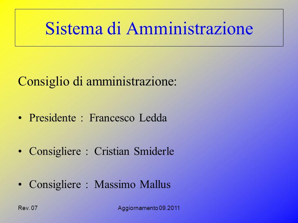 Rev.07Aggiornamento 09.2011 Società Consorziate SAR.CO.M.I.