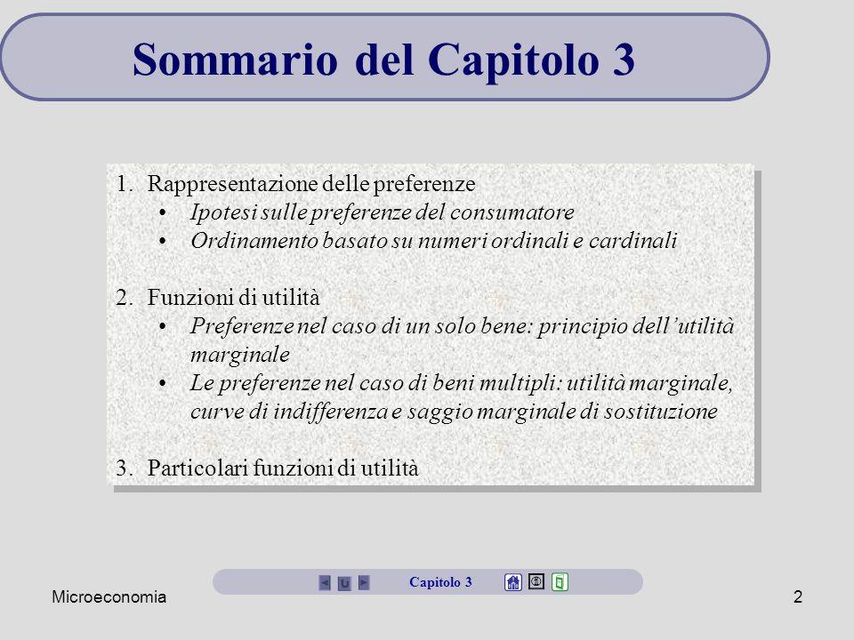 Microeconomia3 Le preferenze del consumatore Un paniere è una combinazione di beni e servizi acquistabili da un consumatore.