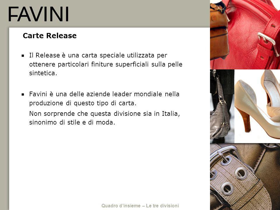 Carte Release Il Release è una carta speciale utilizzata per ottenere particolari finiture superficiali sulla pelle sintetica. Favini è una delle azie