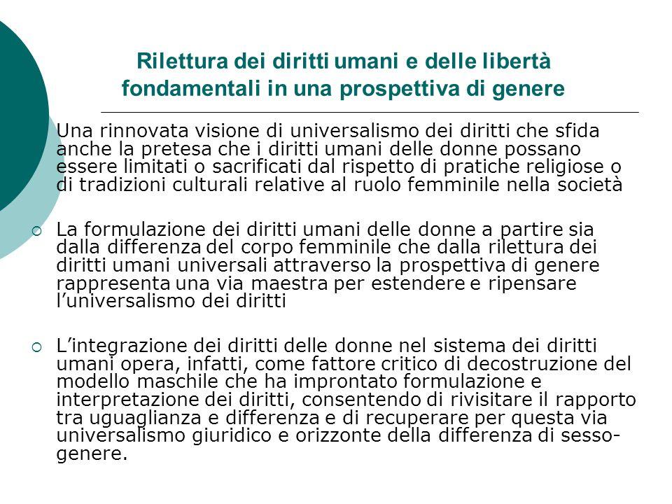 La donna nella Costituzione italiana tra principi formali e diritti sostanziali  Art.