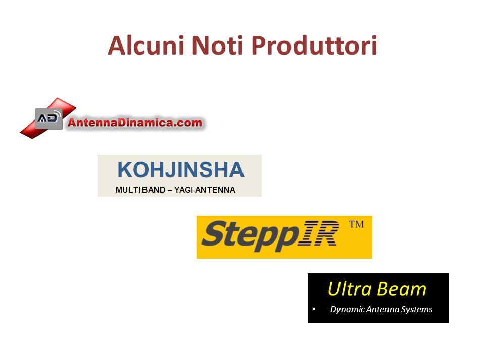 Alcuni Noti Produttori Ultra Beam Dynamic Antenna Systems KOHJINSHA MULTI BAND – YAGI ANTENNA