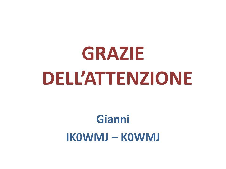 GRAZIE DELL'ATTENZIONE Gianni IK0WMJ – K0WMJ