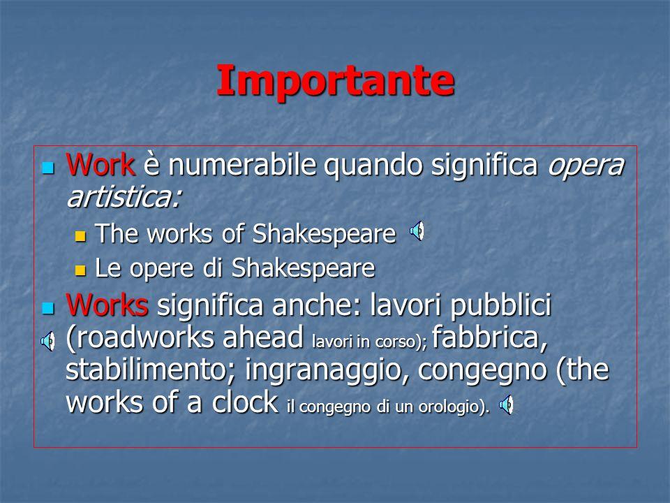 Importante Business con il significato di azienda, ditta è numerabile: Business con il significato di azienda, ditta è numerabile: Es. He runs a busin