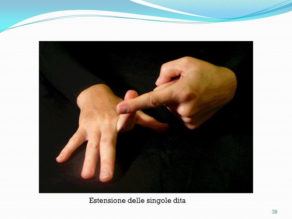 Estensione delle singole dita 39