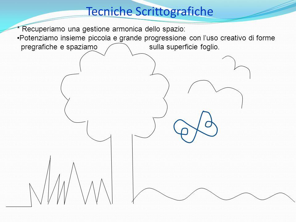 Tecniche Scrittografiche * Recuperiamo una gestione armonica dello spazio: Potenziamo insieme piccola e grande progressione con l'uso creativo di form