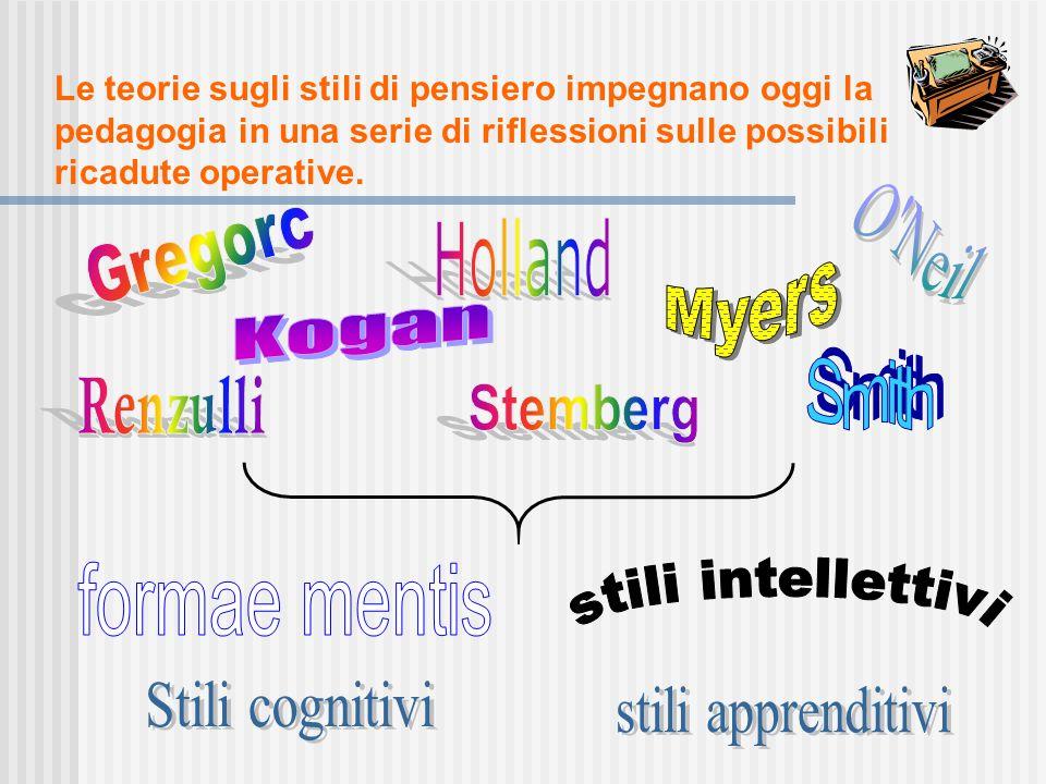 Il modo di pensare è connotato da individualità e diversità, regimi di pensiero che non si pongono in relazione gerarchica né sono indicativi del livello di intelligenza, ma forme privilegiate di far funzionare il cervello, modi diversi di percepire, apprendere, ricordare, disporsi verso il mondo, operare.